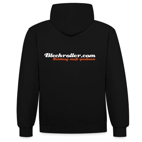 blechroller logo - Kontrast-Hoodie