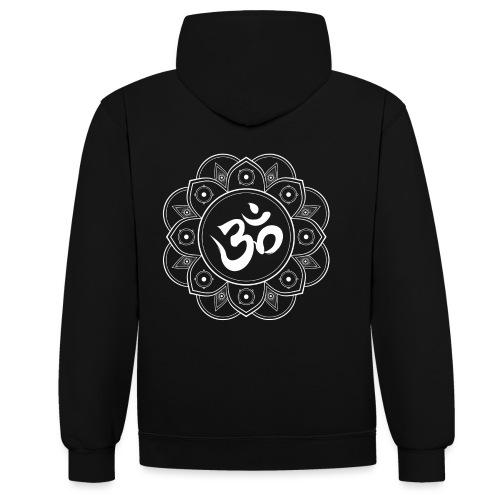 Om Mandala - Contrast Colour Hoodie