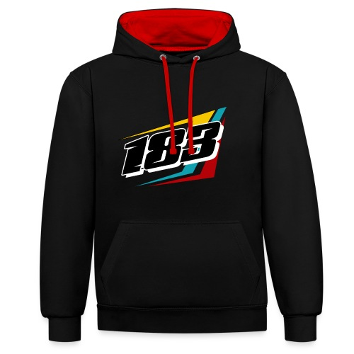 183 Charlie Guinchard Brisca F2 2021 front & back - Contrast Colour Hoodie