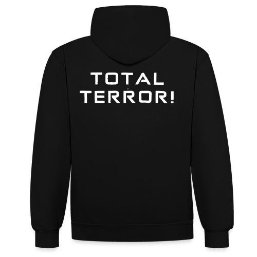 White Negant logo + TOTAL TERROR! - Kontrast-hættetrøje