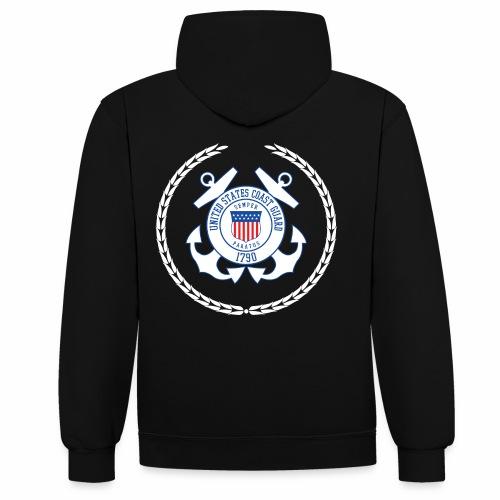 Coast Guard 1790 - Kontrast-Hoodie