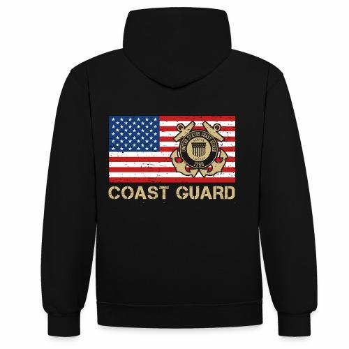 Coast Guard - Kontrast-Hoodie