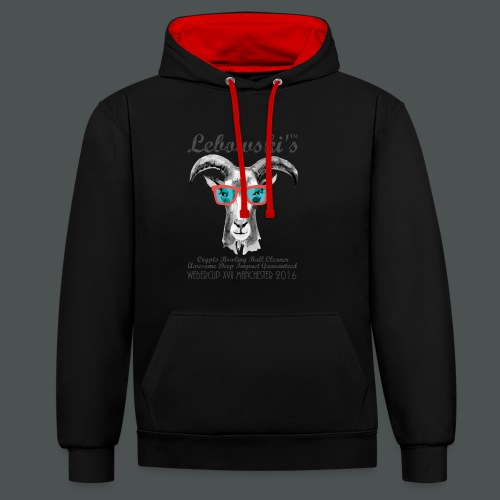 Lebowskis XVII MANCHESTER - Contrast Colour Hoodie