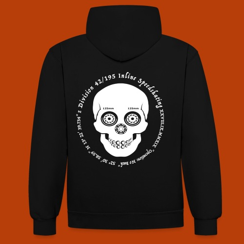 Skull Divisoin42 - Kontrast-Hoodie
