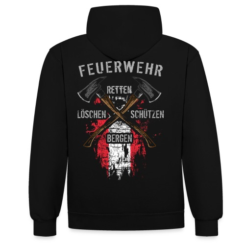 Retten Löschen Bergen Schützen - Kontrast-Hoodie
