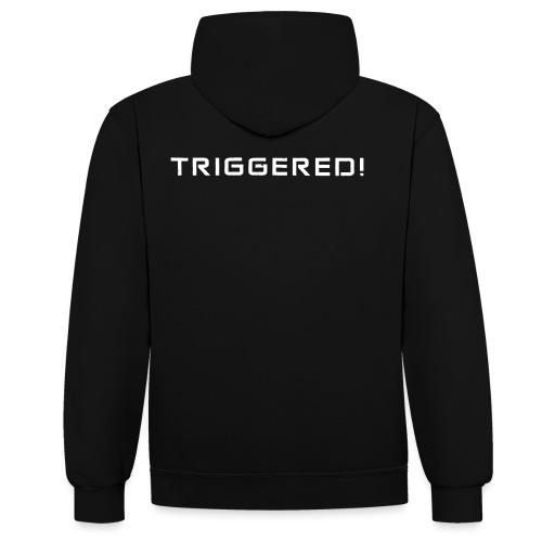 White Negant logo + TRIGGERED! - Kontrast-hættetrøje