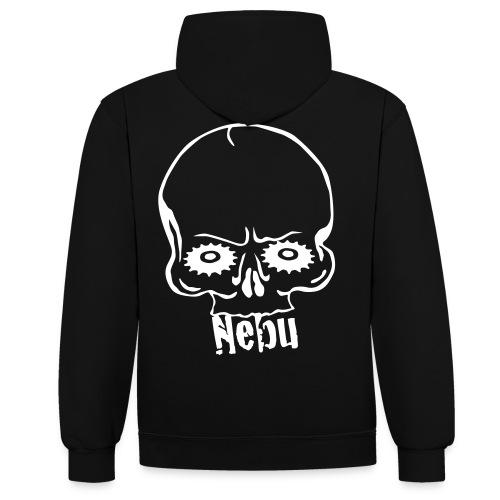 Pullover Nebu Logo - Kontrast-Hoodie