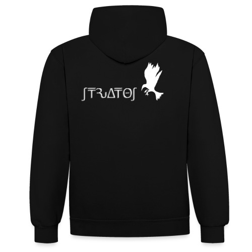 stratos crow white - Contrast Colour Hoodie