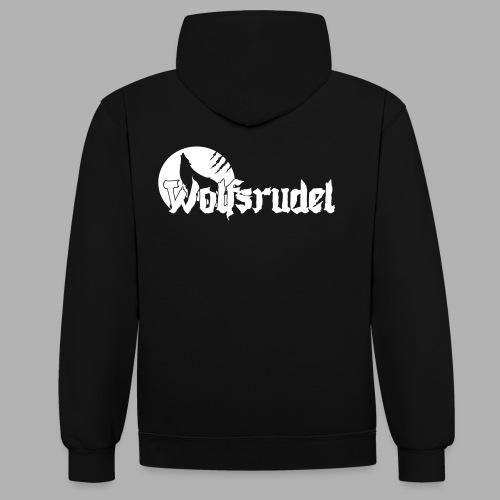 Vektor Logo Wolfsrudel - Kontrast-Hoodie
