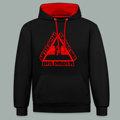 ANTISOCIAL red png - Sweat-shirt contraste