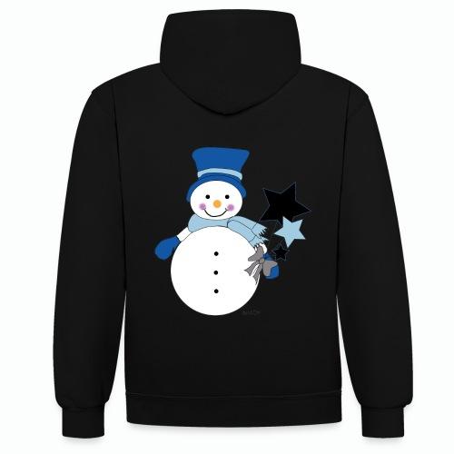 Snowtime-Blue - Kontrast-Hoodie