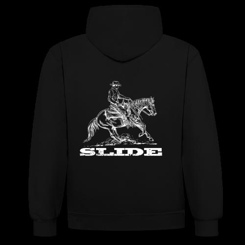 Sliding Stop Westernreiter Reining - Kontrast-Hoodie