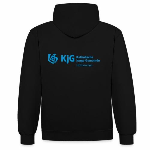 KjG Logo Holzkirchen - Kontrast-Hoodie