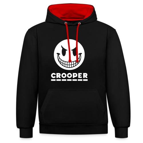 Crooper Logo 2 - Kontrast-Hoodie