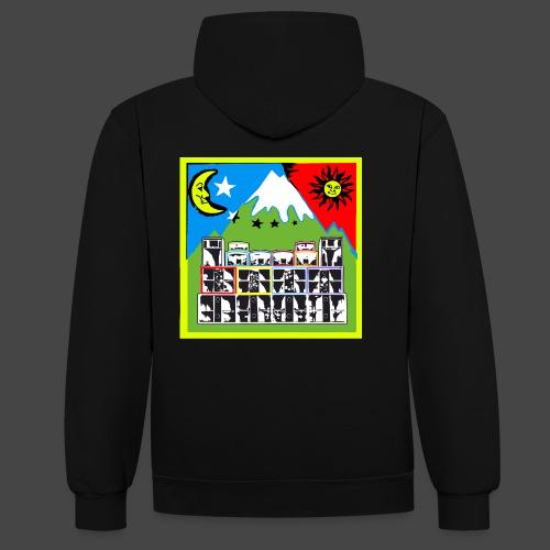 TEKNO SQUAT RESEAU couleur TRIP par TEKNO 23 - Sweat-shirt contraste