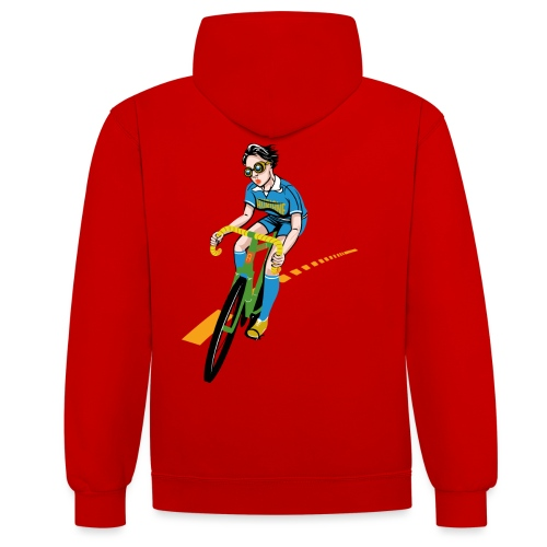 The Bicycle Girl - Kontrast-Hoodie