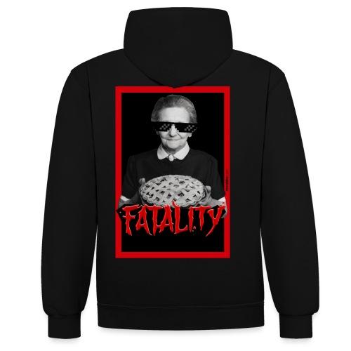 Fatality - Felpa con cappuccio bicromatica