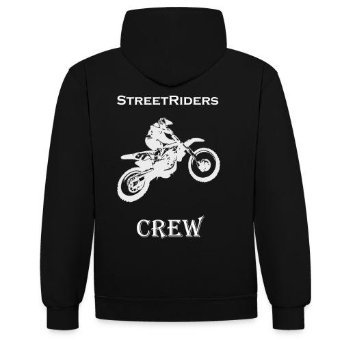 StreetRiders Hoodie - Felpa con cappuccio bicromatica