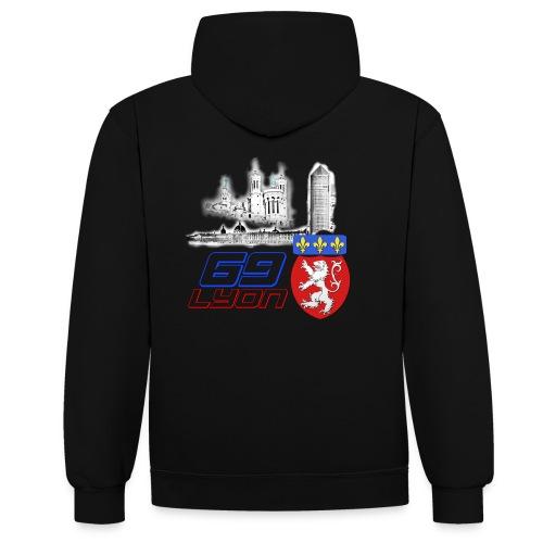 69 Lyon - Sweat-shirt contraste