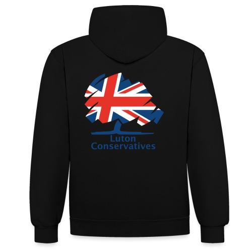 Luton Conservatives Badge - Contrast Colour Hoodie