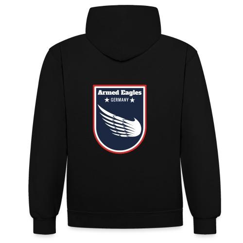 Armed Eagles com Logo B - Kontrast-Hoodie