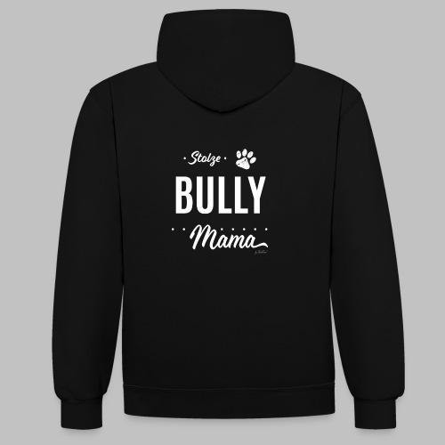 Stolze Bully Mama - Hundepfote - Kontrast-Hoodie