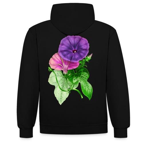 vintage mallow flower - Contrast Colour Hoodie