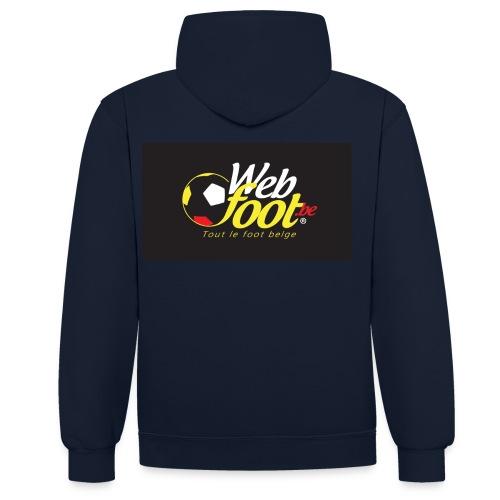 webfoot.be - Sweat-shirt contraste
