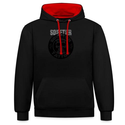 logo bad1 - Kontrast-Hoodie