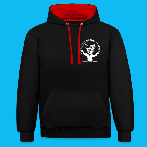 WTBA White PNG - Contrast Colour Hoodie