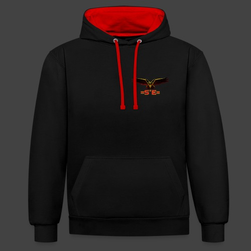 Solo Elite Eagle png - Contrast Colour Hoodie
