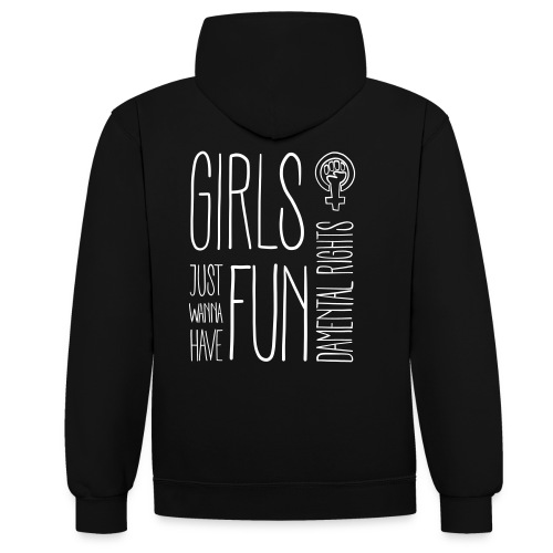 Girls just wanna have fundamental rights - Kontrast-Hoodie