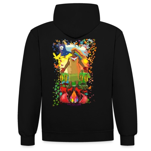 Mother Earth Creating - Contrast hoodie