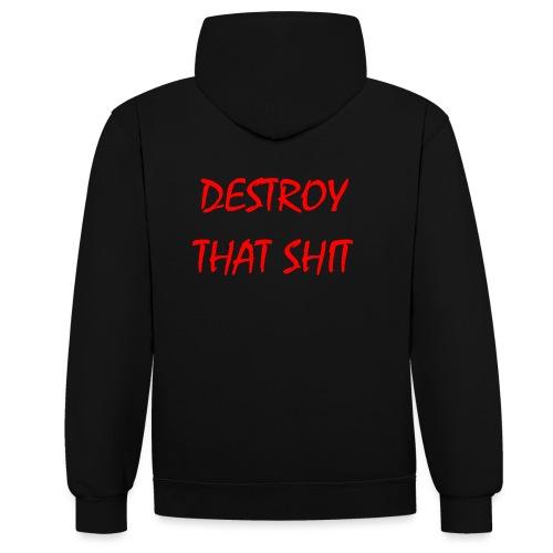 DestroyThatSh ** _ red - Contrast Colour Hoodie