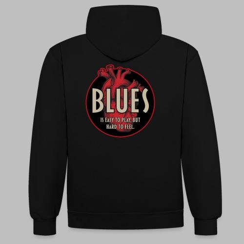 Blues is easy to play - Kontrast-Hoodie