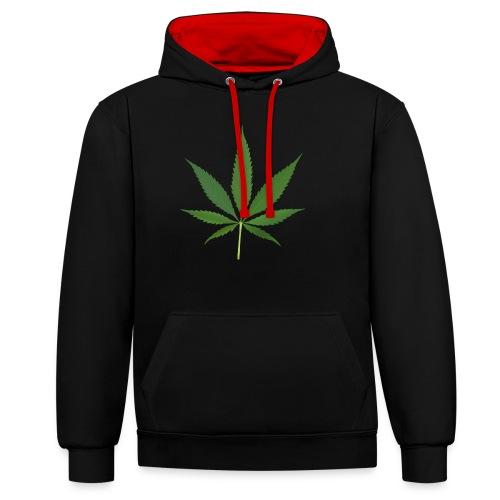 2000px-Cannabis_leaf_2 - Kontrast-hættetrøje