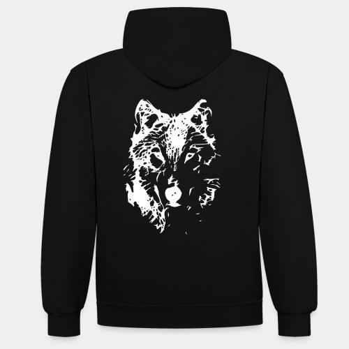 WOLF_03 - Bluza z kapturem z kontrastowymi elementami
