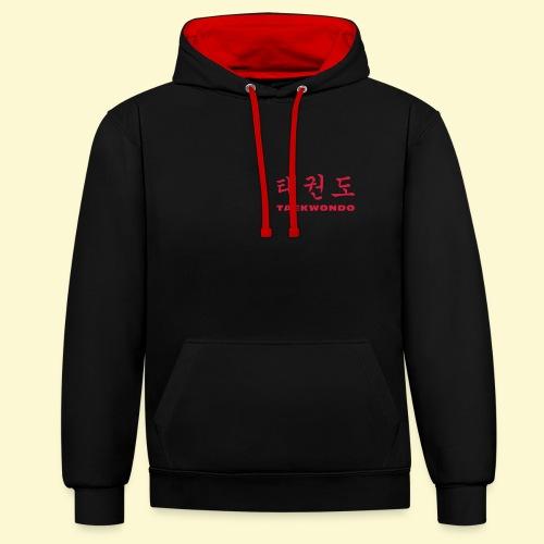 TKD Hangul - Kontrast-Hoodie