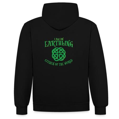 EARTHLING Green the earth - Kontrastluvtröja