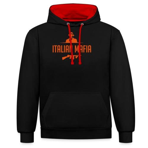 italian mafia - Felpa con cappuccio bicromatica