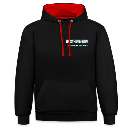 brothers grim blue white png - Contrast Colour Hoodie