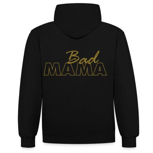 badmama-tekst - Contrast hoodie
