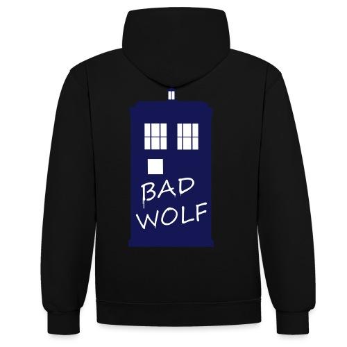 Bad Wolf Tardis - Sweat-shirt contraste