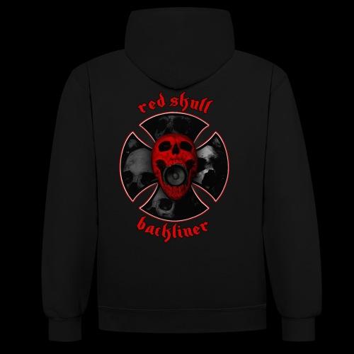 RedSkull Backliner logo trasparente - Felpa con cappuccio bicromatica