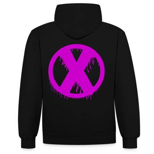 X - Sweat-shirt contraste