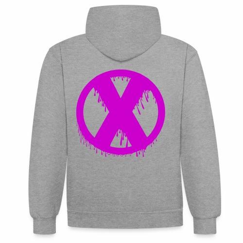 X - Sweat-shirt contraste
