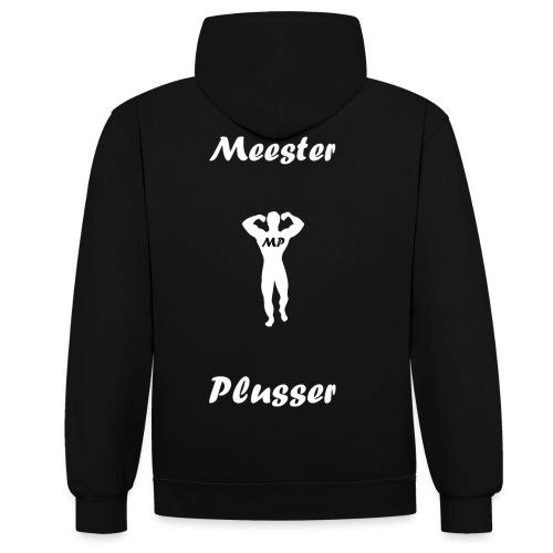 MeesterPlusser - Contrast hoodie