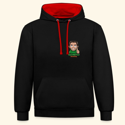 dan-colour - Contrast Colour Hoodie