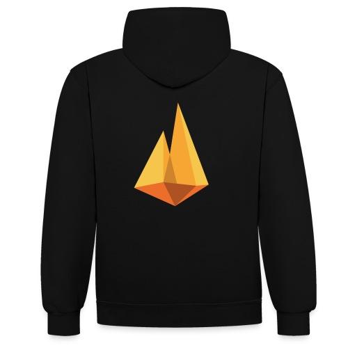 Kampvuur logo - Contrast hoodie
