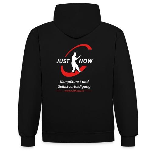 JustKnow - Kampfkunst und Selbstverteidigung - Kontrast-Hoodie